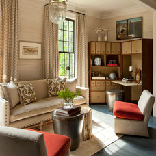 Transitional Living Room by Nick Johnson Interiors