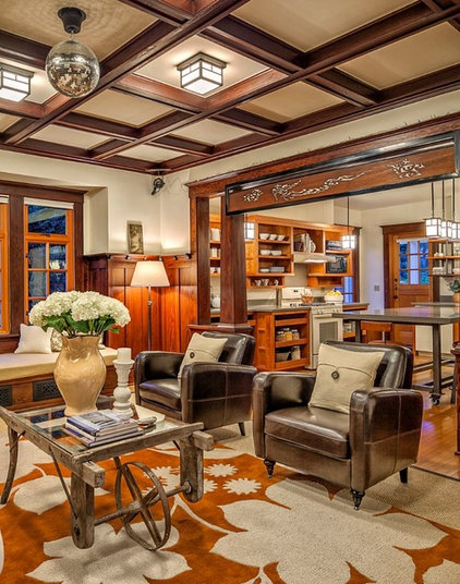 Traditional Living Room by Rosichelli Design