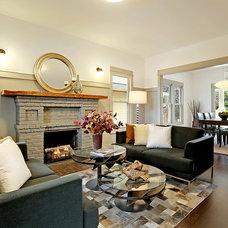Craftsman Living Room by Rosichelli   Design