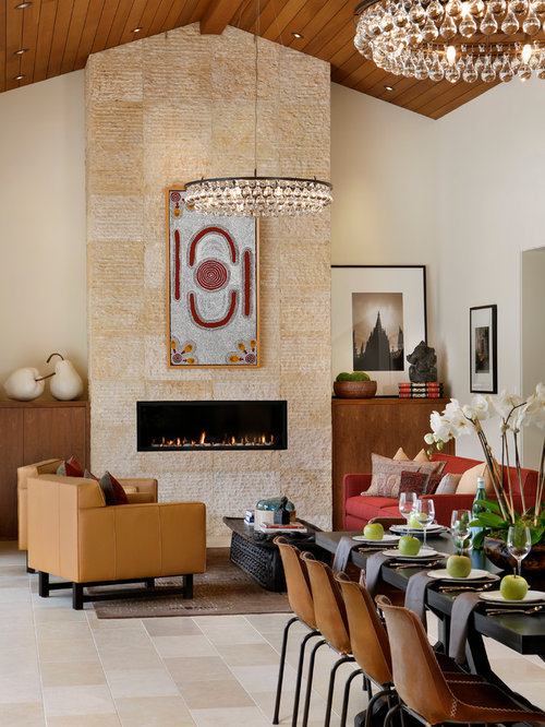 Inspiration For A Contemporary Formal And Enclosed Dark Wood Floor Beige Living Room Remodel