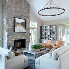 Transitional Living Room by Rock Kauffman Design