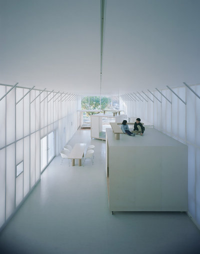 Contemporary Living Room by Pritzker Architecture Prize