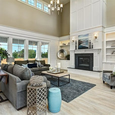 Traditional Family Room by Clark & Co Homes