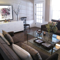 eclectic living room by 3 Doors Down Home Staging & Interior Redesign