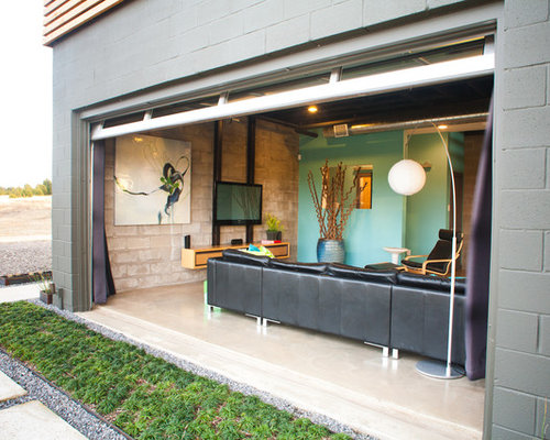 Garage Converted Into Sunroom Houzz