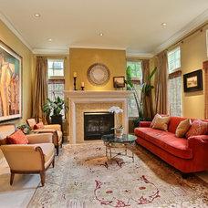 Mediterranean Living Room by Denver Image Photography