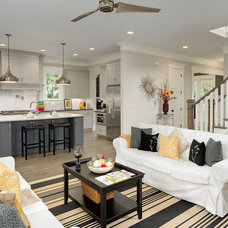 Transitional Living Room by Thrive Homes, LLC
