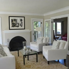 Traditional Living Room by Asbury Design