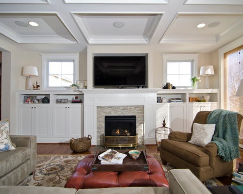 Built Ins Around Fireplace Home Design Ideas