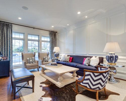 Navy Blue Sofa | Houzz