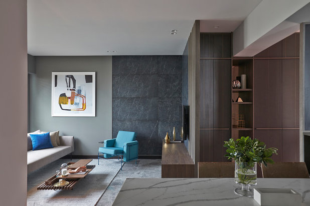 Contemporary Family  Room by Joey Khu Interior Design