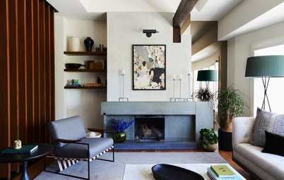 New This Week: 7 Living Rooms That Rethink the Fireplace Wall