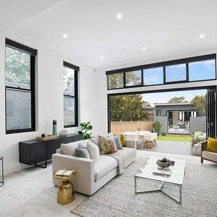 Contemporary living room.
