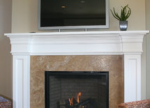 Is the fireplace surround custom made or stock?