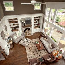 Contemporary Living Room by 3 Pillar Homes