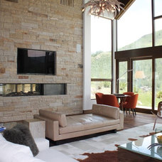 Modern Living Room by Gillette LLC Construction and Remodeling