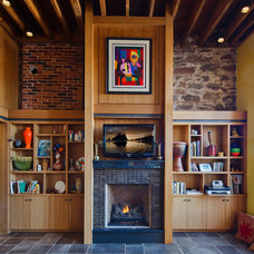 Eclectic Living Room by Wagner Zaun Architecture