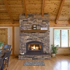 Contemporary Living Room by Habitat Post & Beam, Inc.