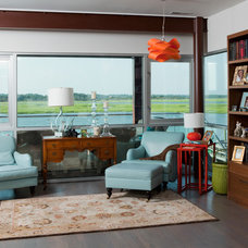 Contemporary Living Room by Tongue & Groove