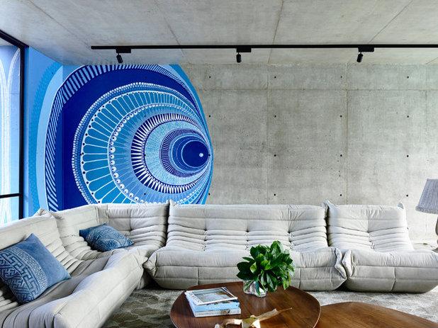 コンテンポラリー リビング by mckimm residential design