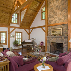 Traditional Living Room by Habitat Post & Beam, Inc.