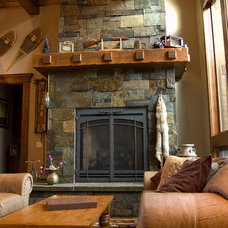 Traditional Living Room by Pinetop Custom Homes