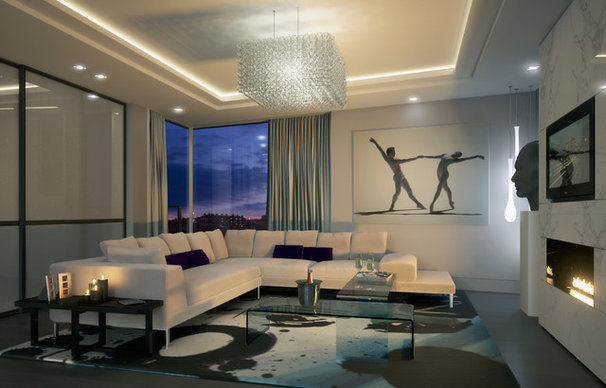 Contemporary Living Room by CID Interieur