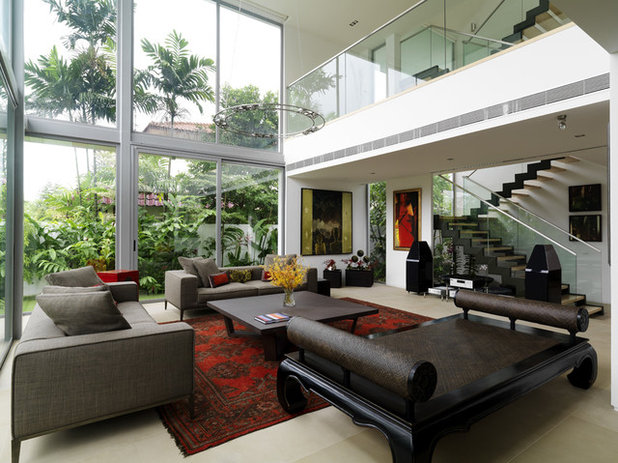 Contemporary Living Room by HSI ARCH