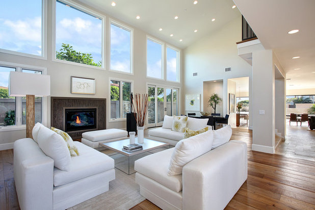 Transitional Living Room by Pinpoint Properties