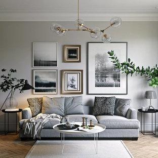Living room - living room idea in New York