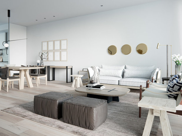 Scandinavian Living Room by Lunas Visualization Inc