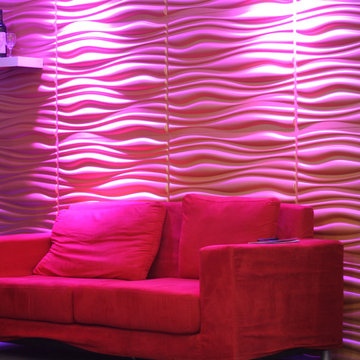 3D wall surface decoration, 3d TV setting wall wave panels 2013