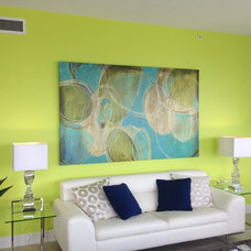 Contemporary Living Room by HANGMYART.com