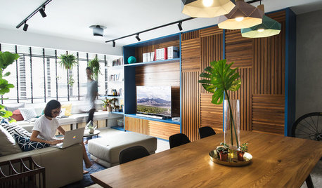 Houzz Tour: Well-designed Storage Gives This Flat Natural Beauty