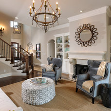 Traditional Living Room by Grove Park Construction