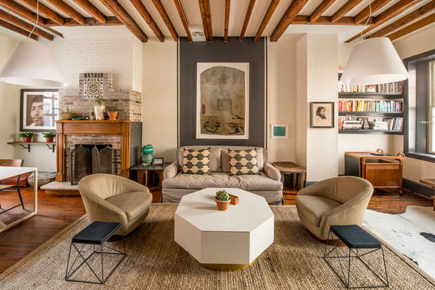 Eclectic Living Room by PS & Daughters