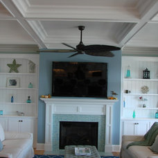 Beach Style Living Room by Charles Fox Homes