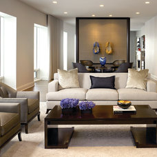 Contemporary Living Room by Gary Lee Partners