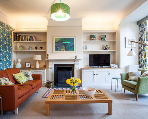 living room cabinet furniture. 1950s carpeted living room photo in Oxfordshire with white walls Living Room Cupboard  Houzz