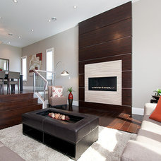 Contemporary Living Room by Private Property Staging