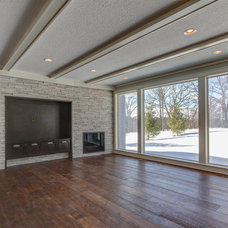 Farmhouse Living Room by RCON Homes