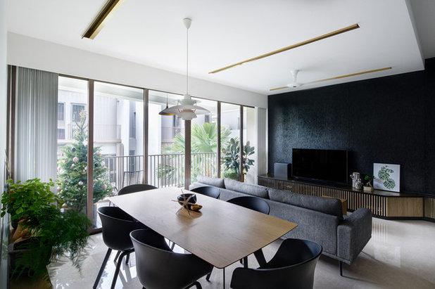 Contemporary Living Room by asolidplan