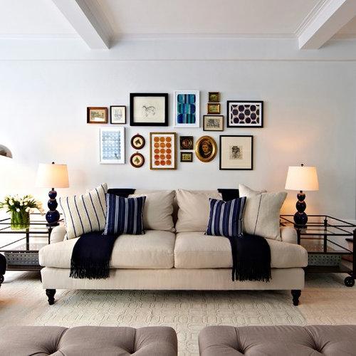 Navy Blue Grey Cream Room Living Room Ideas & Photos | Houzz