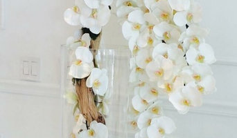 """55"""" Cylinder w/ white silk orchid and exotic wood handmade"""