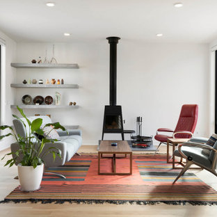 75 Beautiful Living Room With A Wood Stove Pictures Ideas December 2020 Houzz