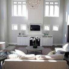 Contemporary Living Room by Lisa Clark Design