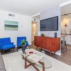 Laurelhurst House Midcentury Living Room Seattle