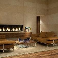 Contemporary Living Room by Montigo Fireplaces
