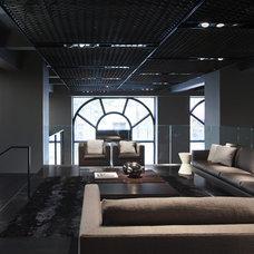 Contemporary Living Room by Robert Granoff