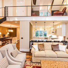 Transitional Living Room by Archer Construction